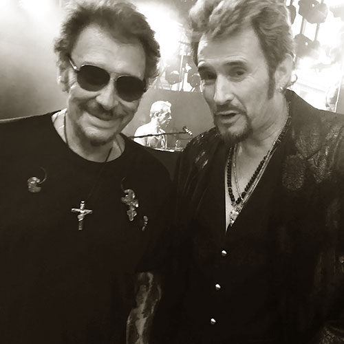 Johnny Hallyday et Johnny Vegas